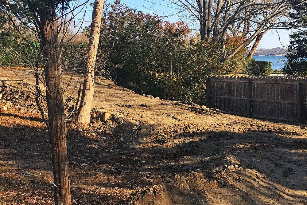 Madeline Ave Lot preliminary site work